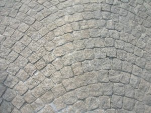 granite setts - example of installation